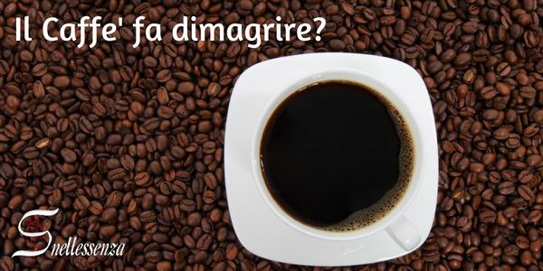 bere solo caffè per dimagrire